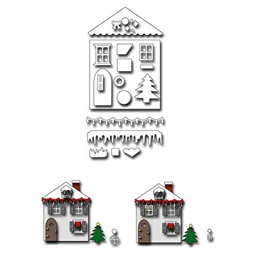 Halloween Stanzschablone Metall Schablone Schablone Schablone für DIY Scrapbook Album Einladung Karte Basteln Papier Karten, silber, ()