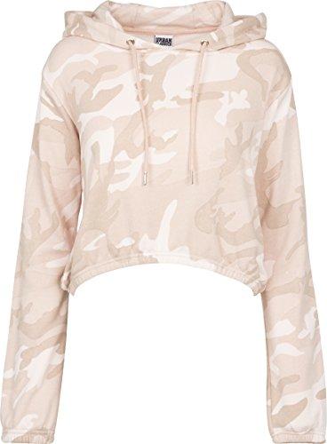 Urban Classics Damen Ladies Camo Cropped Hoody Kapuzenpullover, Rose, XS -