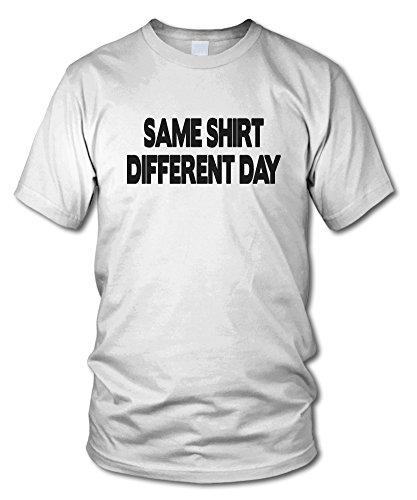 shirtloge - SAME SHIRT DIFFERENT DAY - KULT - Fun T-Shirt - in verschiedenen Farben - Größe S - XXL Weiß
