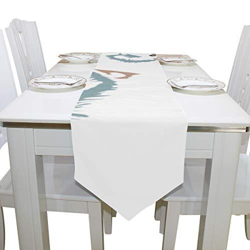 Yushg Niedliche Faule kleine Koalabär Tier Kommode Schal Tuch Abdeckung Tischläufer Tischdecke Tischset Küche Esszimmer Wohnzimmer Haus Hochzeit Bankett Dekor Innen 13x90 ()