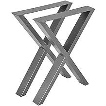 [en.casa]®] Conjunto de Patas de Mesa - Set de 2X