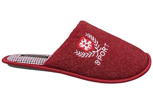 GIBRA® Herren Pantoffeln, sehr leicht, rot, Gr. 40-45 Rot