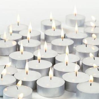 Pure Source India Wax Tea Light Candle (White, Set of 50) Smokeless...