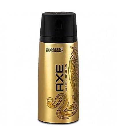 Axe Déodorant Homme Spray Gold Temptation 150ml - Lot de 2