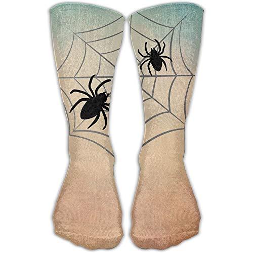 saibing Spider Web Unisex Tube Socks Crew Over The Calf Soccer Comfort Stockings For Sport And Travel