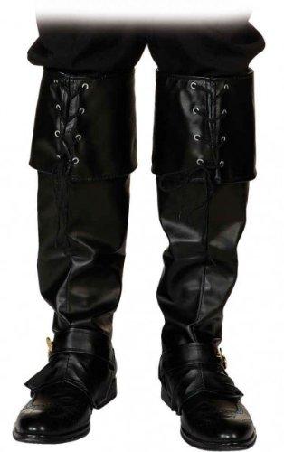 KBO81995 Gamaschen, schwarz, für das Weihnachtsmann-Kostüm oder für den Gestiefelten Kater -