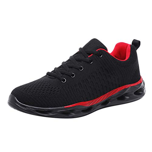 TUDUZ Damen String Sandalen Unisex-Erwachsene Espadrilles Herren Laufschuhe Schnürhalbschuhe Slipper Sneaker Outdoorschuhe Stiefel(A-Rot,39EU)