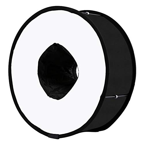MOUNTDOG Runde Blitz Ringblitz Blitz Softbox Lichtformer Diffusor RoundFlash 45cm für Makro & Portrait Aufnahme (Runde Blitz)