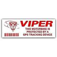 5 x VIPER GPS rastreo dispositivo motocicleta alarma seguridad pegatinas rastreador advertencia, rastreador, señal, GPS, protección, seguridad, seguridad y protección
