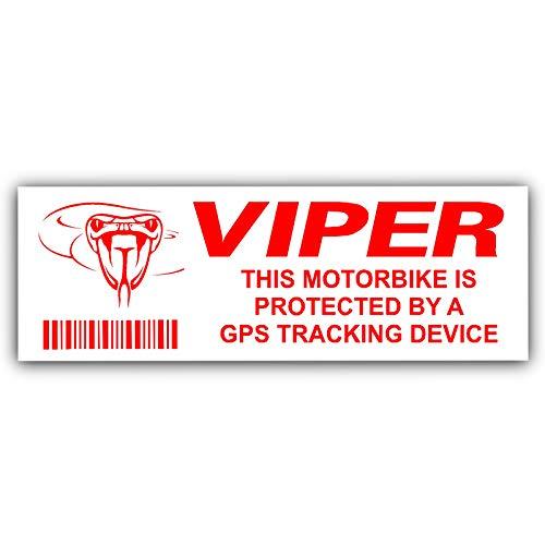 5x Viper Gps-Tracking device-motorbike Alarm Sicherheit stickers-tracker Warnung, Tracker, Zeichen, GPS, Schutz, Sicherheit, sichere, schützen (Sticker Sicherheit Zeichen)
