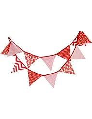 10,5 pieds fanion bannière drapeaux en plein air décoration tente triangle drapeaux rouge