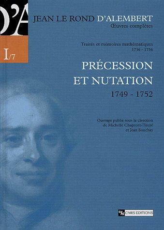 Précession et nutation 1749-1752 par Michele Chapront-touze