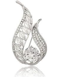 Rwdacfs Exquisita Dama Broche Zircon Diamante Vestido mantón Pin Broche Seda Toalla Hebilla decoración ...