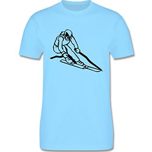 Wintersport - Skifahrer - Herren Premium T-Shirt Hellblau