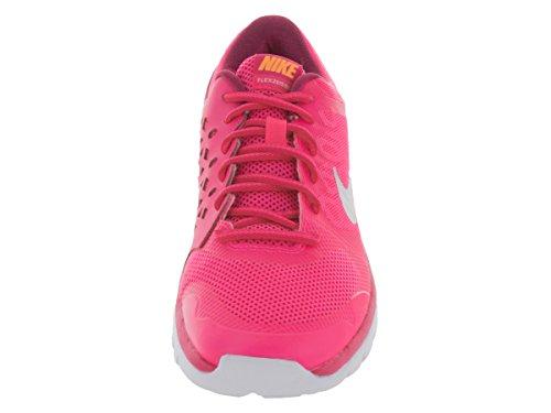 Nike Flex 2015 Rn (Gs), Baskets Basses Mixte Enfant, 6 M US Pnk Pw/Mtllc Slvr/Brght Ctrs/V