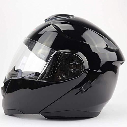 LALEO Integralhelm Modular Motorradhelm Doppelschicht Visier, Damen und Herren Cruiser Helmet Jet-Helm ECE Genehmigt Schwarz, Weiß (57-64cm),Black,M