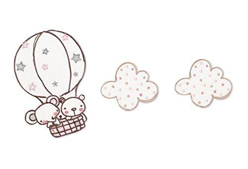 Pirulos Globo - Apliques bordados, 32 x 90 cm, color blanco y...