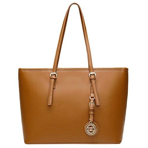 Frauen PU-Leder-modische Satchel-Handtasche Allgleiches Schultertasche Portable Single-Umhängetasche brown
