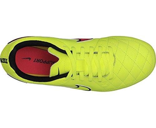 Nike Tiempo Genio Leather FG, Unisex-Kinder Fußballschuhe VLT/MTLC GLD CN-BLCK-HYPR PNCH