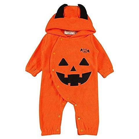 Vine Baby Overall mit Kapuze Halloween-Kostüme Spielanzug Fleece Strampler Jumpsuit Kürbis Outfits, 18-24 (22 Halloween Kostüme)