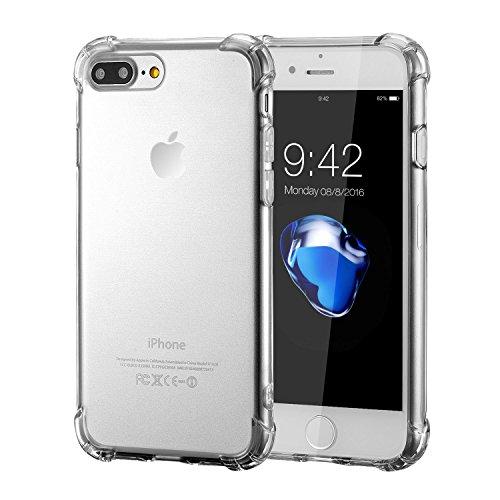 iPhone 8 Plus Silikon Hülle,iPhone 7 Plus hülle,Apple iPhone 8 plus Silikon Abdeckung Stoß- Dünn Glanz Gel Stoßstange Flexibel und Weich Apple iPhone 7 plus &iPhone 8 plus 5,5 TPU Durchsichtig Transparent shockproof