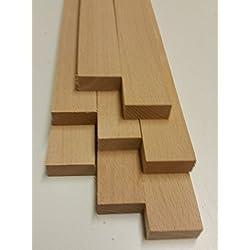 Listones de madera de haya, 10 unidades, 500 x 30 x 14 mm