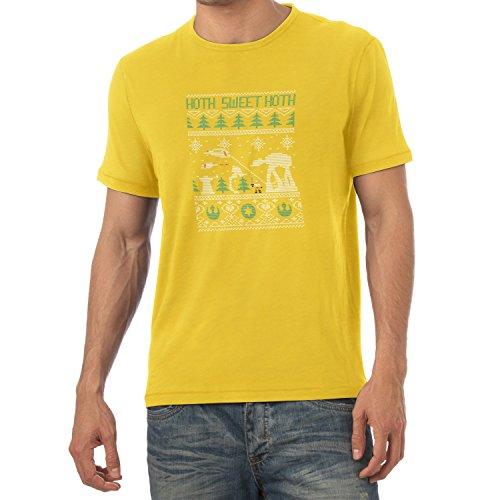 TEXLAB - Knitted Hoth Fight - Herren T-Shirt Gelb
