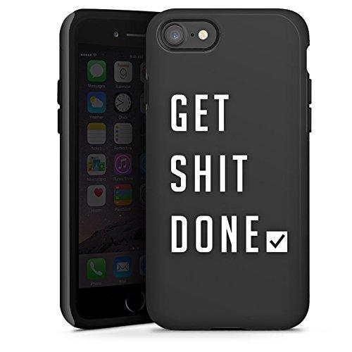 Apple iPhone X Silikon Hülle Case Schutzhülle Sprüche Workout Motivation Tough Case glänzend