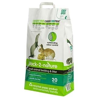 Back 2 Nature Small Animal Biodegradeable Paper Litter 20ltr Back 2 Nature Small Animal Biodegradeable Paper Litter 20ltr 41H6A3JQj2L