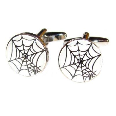 Spinnennetz Design Manschettenknöpfe