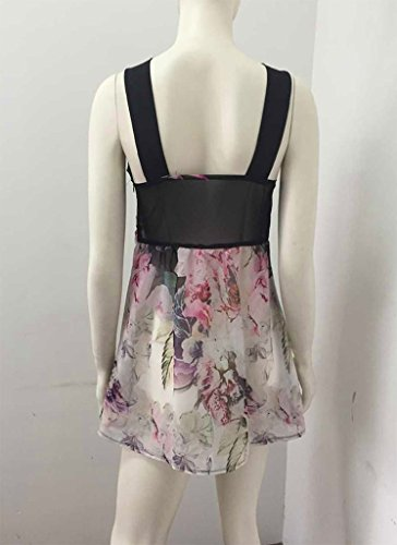 Smile YKK Elegante Damen Party Kleid Minikleid Sommer Kleid Bunt Bunt