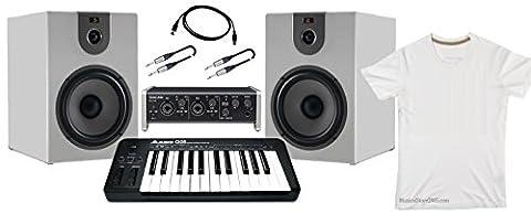 Producer Pack Beginner Carte audio USB/moniteur de studio 360W/Contrôleur MIDI Bundle