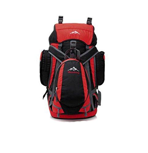 Wmshpeds Grande capacità professionale Borsa Alpinismo Outdoor Camping Escursionismo avanzato resistente all usura resistente allo strappo e zaino a spalla C