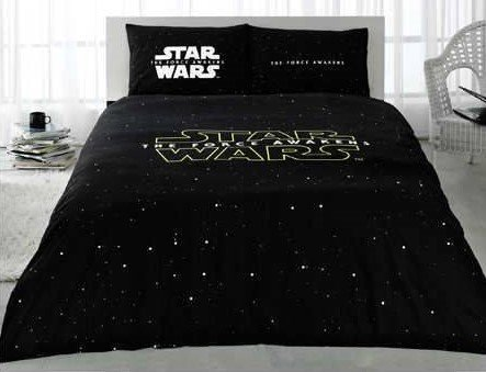 Quilt Set Star Wars (100% Turkish Cotton 4 Pcs!! Ranforce STAR WARS Full Double Queen Size Quilt Duvet Cover Set Bedding Made in Turkey Licensed by TAC)