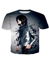 c76dc0bb39355 JJZHY Camiseta de Manga Corta para Hombre y Mujer Michael Jackson con  Estampado 3D Regalos de