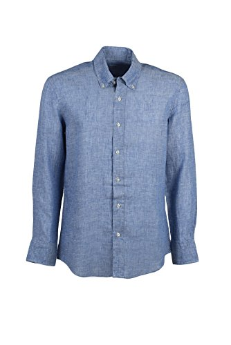 Camicia 100% lino cielo button down, xl-43/44
