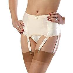 What Katie Did Harlow Vintage Peach Deep Suspender Belt L2017, Pink, EU 34/UK 8
