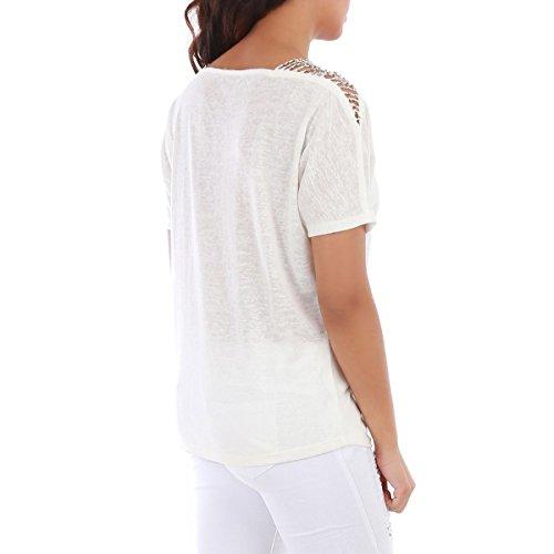 La Modeuse - Top ample à manches courtes Blanc