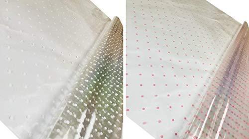 INERRA® 2 Metres x 80cm Clear Cellophane Sheet Film /& 25 Metres Curling Ribbon
