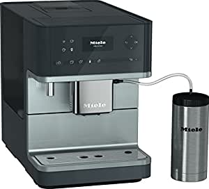 Miele CM 6350 Kaffeevollautomat (OneTouch- und OneTouch for Two-Zubereitung, 4 Genießerprofile, Tassenwärmer, Heißwasserauslauf, Tassenbeleuchtung, automatische Spülprogramme) grau