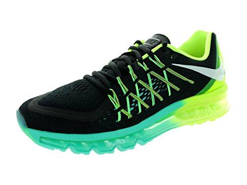 Nike Air Max 2015, Running Entrainement Homme BLACK/WHITE-VOLT-HYPER JADE