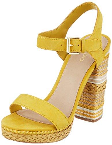 ALDO HUGLAG, Damen Riemchensandalen, Gelb (Golden Yellow 2/69), 40 EU (7 UK) (Schuh Heel Slingback-block High)