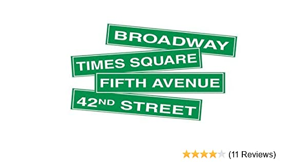 Novelties Direct New York City Street Name Cutouts 60.96 cm x 10.16 cm Printed Both Sides 4 in a pack