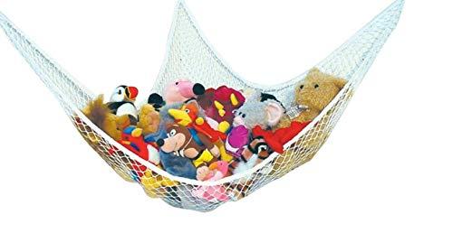 EQLEF® Toy Hängematte Speichernetz für Kuscheltiere, ausgezeichnet für Kinderraum , Kinderspielzeug, Organisation & Hanging Organizer (weiß)