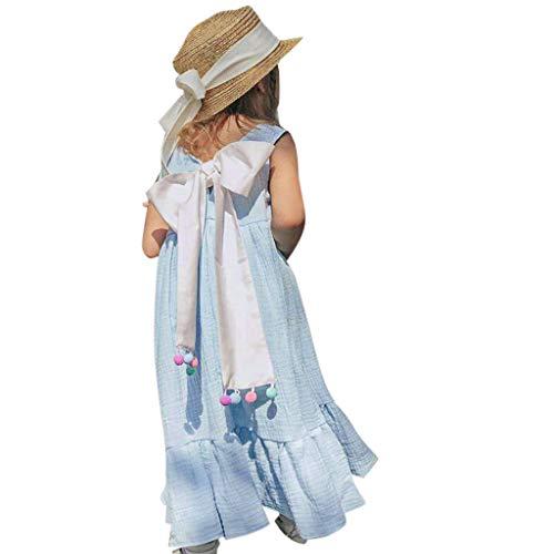 f14d4fa5509b9 Robe De Fille ADESHOP Mode Enfant BéBé Filles Couleur Unie Gilet sans  Manches A-Line