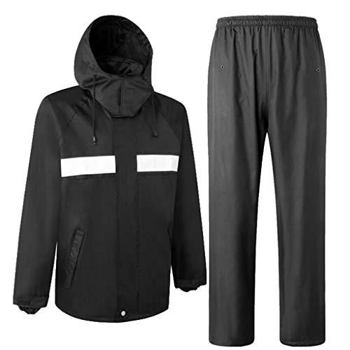 Homyl Giacca Pantaloni Impermeabile Vestiti Antipioggia Costumo Tasche Frontali