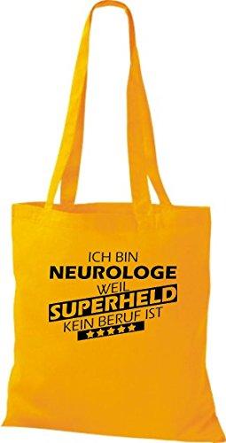 Borsa di stoffa SONO neurologe, WEIL supereroe NESSUN lavoro è Gelb