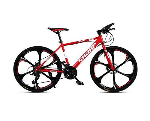 QWE Mountain Bike per Adulto 26 Pollici 27 velocità VTT Bici Doppio Disco Freni Mountain Bike Fuoristrada velocità ATV Mountain Bike Rosso