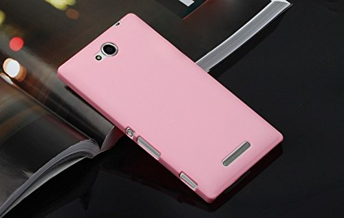 Generic Rubberised Hard Case Back Cover for SONY XPERIA C - BABY PINK  available at amazon for Rs.169