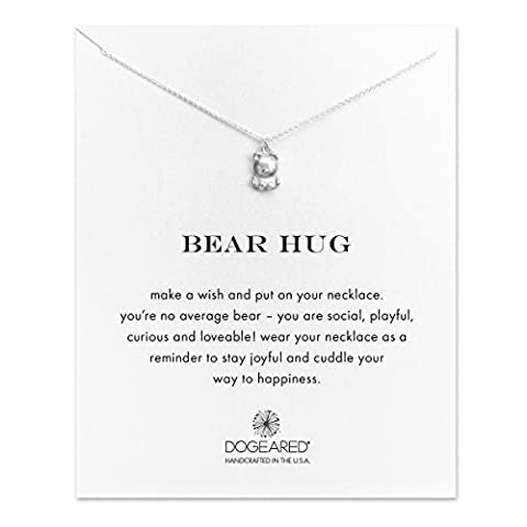 Dogeared 925 Sterling Silver Bear Hug Happiness Necklace of Length